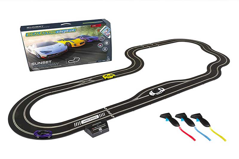 Scalextric ARC Pro App Race Control Sunset Speedway Slot Car Digital 1:32 Race Track