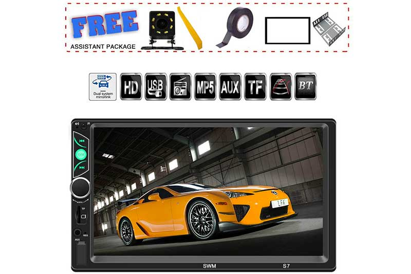 TDYJWELL 7 inch Double Din Touch Screen Car Stereo