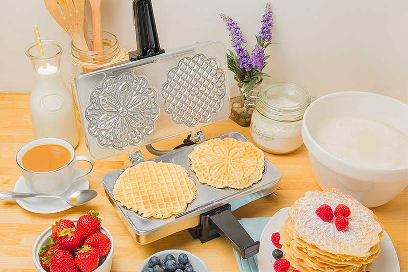 CucinaPro Polished Electric Pizzelle Baker