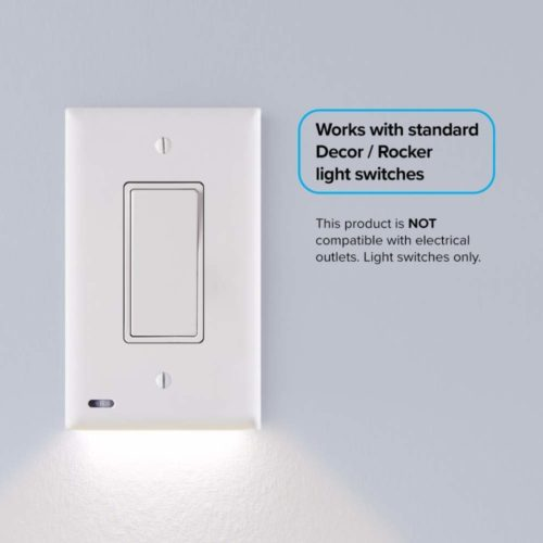 3 Pack - SnapPower SwitchLight - LED Night Light - For Light Switches - Light Switch Wall Plate With Built-In LED Night Lights - Bright/Dim/Off Options - Automatically On/Off Sensor - (Rocker, White) Top 10 Best snappower guidelight in 2018 Reviews