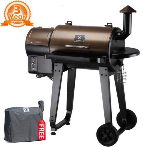 Z Grills ZPG-450A 2021 Upgrade Model Wood Pellet Grill & Smoker, 8 in 1 BBQ Grill Auto Temperature Control, 450 sq inch Deal, Bronze & Black Cover Included TOP 10 BEST PELLET SMOKERS IN 2021 REVIEWS