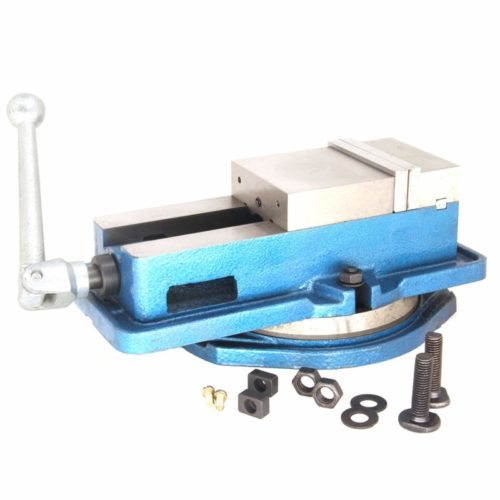 1. Milling Machine Lockdown Vise - 360 Degree Swiveling Base - Hardened Metal