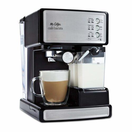 1. Mr. Coffee Espresso and Cappuccino Maker, Café Barista , Silver