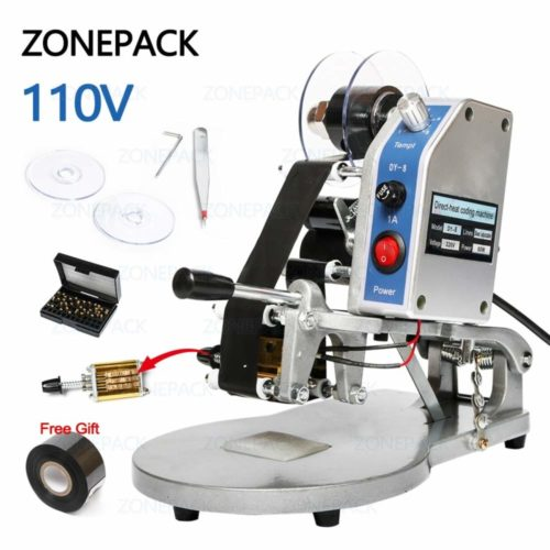 10. ZONEPACK DY-8 Date Printing Machine Hot Code Stamp Printer Semi Automatic Coding Machine 110V 40W