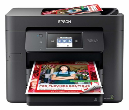 12. Epson Workforce Pro WF-3730 All-in-One Wireless Color Printer with Copier, Scanner, Fax and Wi-Fi Direct