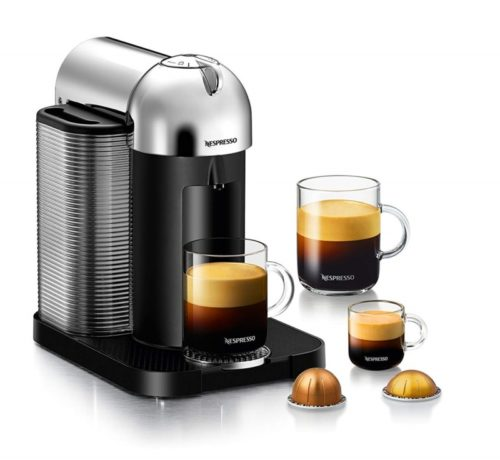 12. Nespresso Vertuo Coffee and Espresso Machine by Breville, Chrome