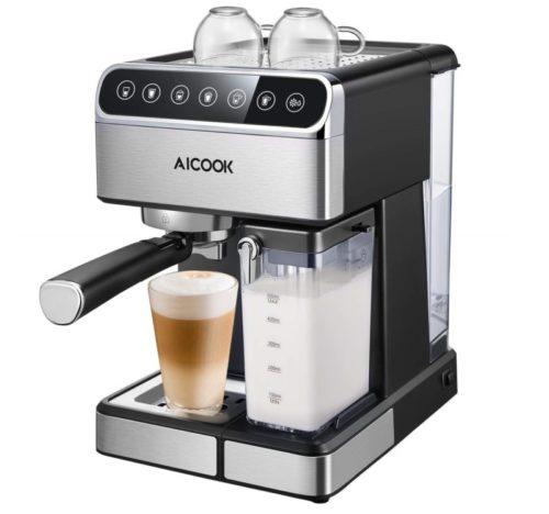 13. Aicook Espresso Machine, Barista Espresso Coffee Maker with One Touch Digital Screen