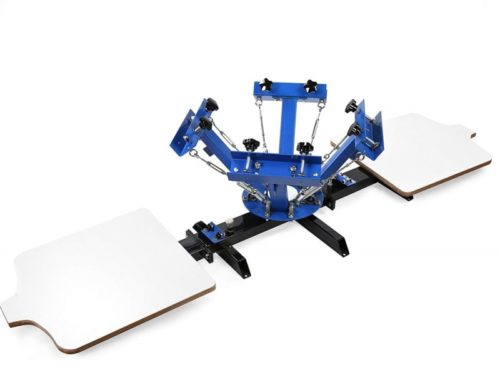2. BestEquip Screen Printing Machine 2 Station 4 Color Screen Printing for T-Shirt DIY Screen Printing Press Silk Screen Removable Pallet