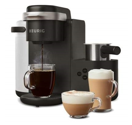 2. Keurig K-Cafe Coffee Maker, Single Serve K-Cup Pod Coffee, Latte and Cappuccino Maker, Comes with Dishwasher Safe Milk Frother, Coffee Shot Capability