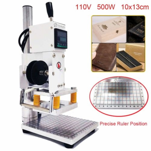 2. Upgraded Hot Foil Stamping Machine 10x13cm Leather Bronzing Pressure Mark Machine