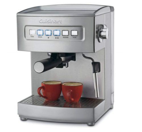 4. Cuisinart EM-200 Programmable 15-Bar Espresso Maker, Stainless Steel