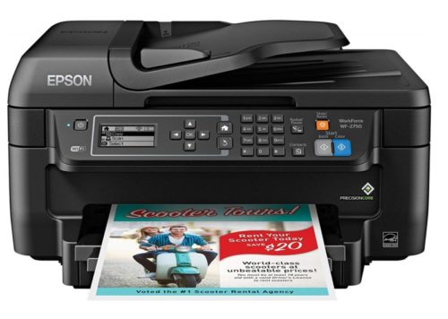 5. Epson WF-2750 All-in-One Wireless Color Printer with Scanner, Copier & Fax, Amazon Dash Replenishment Enabled