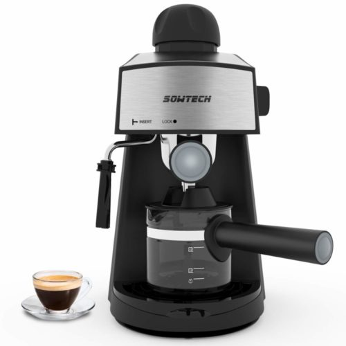 6. Espresso Machine 3.5 Bar 4 Cup Espresso Maker Cappuccino Machine with Steam Milk Frother and Carafe