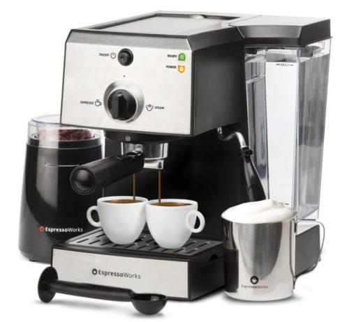 7. 7 Pc All-In-One Espresso Machine & Cappuccino Maker Barista Bundle Set