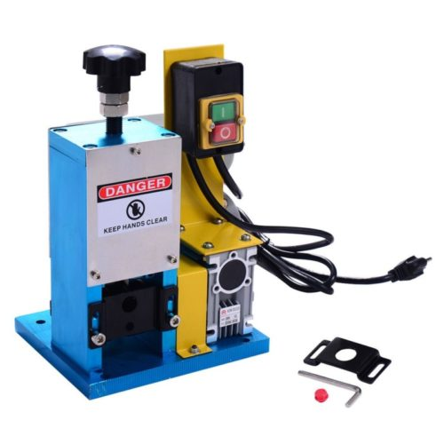 7. Goplus Powered Electric Wire Stripping Machine, 1.5mm-25mm Portable Scrap Cable Stripper for Scrap Copper Recycling