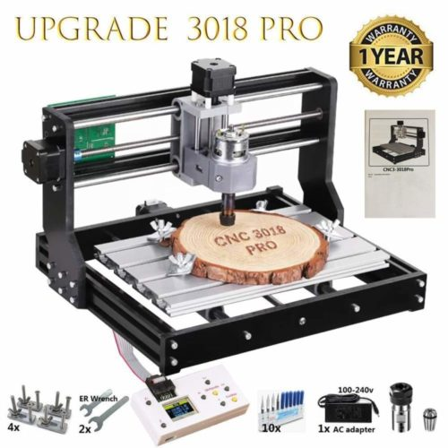 8. CNC 3018 Pro GRBL Control DIY Mini CNC Machine, 3 Axis PCB Milling Machine, Wood Router Engraver with Offline Controller,
