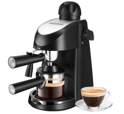 8. Espresso Machine, Aicook 3.5Bar Espresso Coffee Maker, Espresso and Cappuccino Machine with Milk Frother, Espresso Maker with Steamer, Black