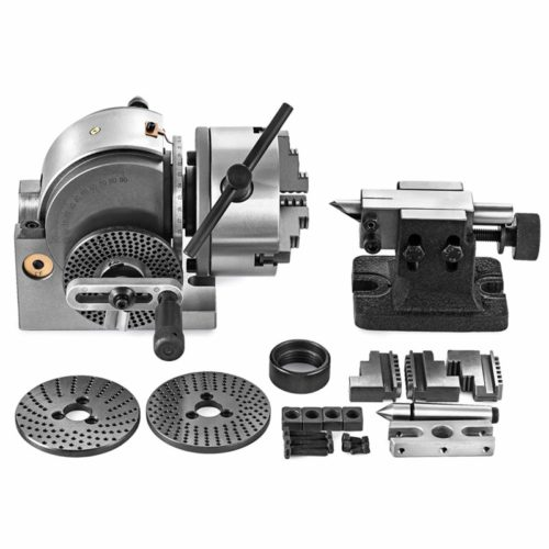 9. SHZOND Dividing Head Set 3 Jaw Lathe Chuck Dividing Head 5 Inch with Tailstock Dividing Plates for Milling Machine