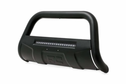 Rough Country Black Bull Bar w/LED Compatible w/ 2008-2018 Chevy Silverado GMC Sierra 1500 Tahoe Yukon Suburban B-C4071