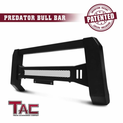 TAC Predator Mesh Version Modular Bull Bar Fit 2004-2021 Ford F150 Pickup Truck Fine Textured Black Compatible with LED Off-Road Lights (Predator Mesh Version) (Patent No.: US 10,315,599 B2)