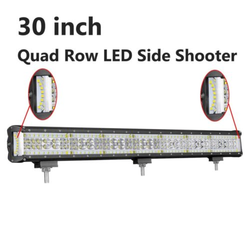 LED Light Bar, Moso LED 30 inch 450W LED Side Shooter CREE LED Spot Flood Combo Light Bar LED Driving Light Work light Bar Fog Lamp for Truck Jeep Off Road ATV SUV, 3 Years Warranty