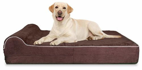7-inch Thick High Grade Orthopedic Memory Foam Dog Bed With Pillow and Easy to Wash Removable Cover