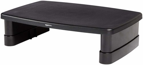 AmazonBasics Adjustable Computer Monitor Riser Desk Stand