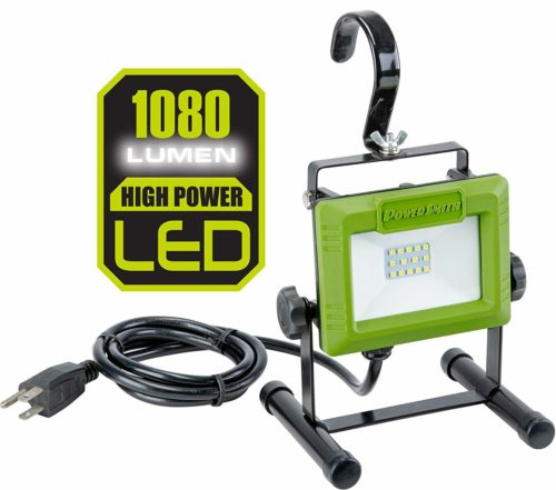 PowerSmith PWL110S 1080 Lumen Stand and Large Adjustable Metal Hook