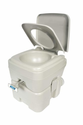 Camco Portable Travel Toilet-Designed for Camping, RV, Boating and Other Recreational Activities-5.3 Gallon (41541) TOP 10 BEST PORTABLE TOILETS IN 2021 REVIEWS