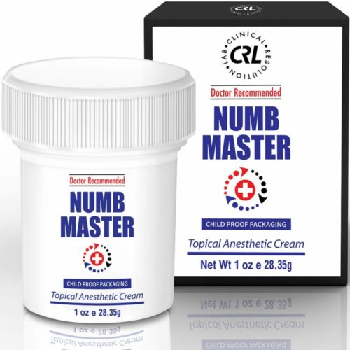 Numb Master 5% Lidocaine Topical Numbing Cream with Aloe, Vitamin E, 1 Oz Maximum Strength Topical Anesthetic Cream Pain Relief Cream with Child Resistant Cap