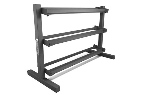 Synergee 3 Tier Dumbbell Rack - Perfect for 5-50 lb Dumbbell Sets. Organizes Free Weights - Perfect for Home, Garage, and Commercial Gyms