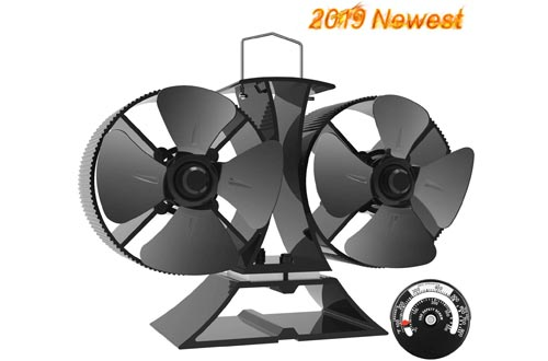 Top 10 Best Electric Heated Powered Wood Stove Fans Reviews In 2020