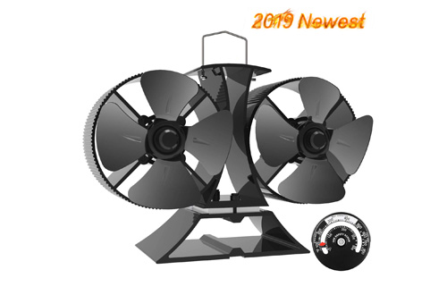 X-cosrack 8 Blades Heat Powered Stove Fan,
