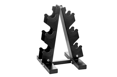 PAPABABE A Frame Dumbbell Rack Weight Rack Stand Dumbbell Weight Storage for Home Gym