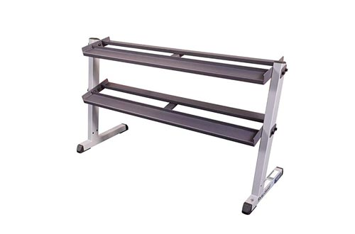 Body-Solid 2-Tier Horizontal Dumbbell Rack (GDR60)