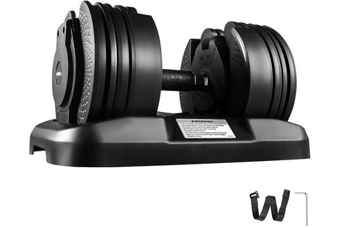 Lovshare Adjustable Dumbbell Series 52.5lbs and 90lbs Fitness Dumbbell Standard Adjustable Dumbbell with Handle and Weight Plate for Home Gym System-...