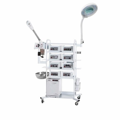 Microdermabrasion Machine and Facial Steamer 18-in-1 T4DW, Best Selling Multi-use Machine with Diamond Tip on a Double-Wide Rolling Cart - eMark Beauty