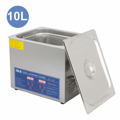 CO-Z Professional 10L Ultrasonic Cleaner with Timer Digital for Cleaning Jewelry Glasses Watch Small Parts Circuit Board Instrument, Commercial Electric Ultrasound Clean Machine (110V)