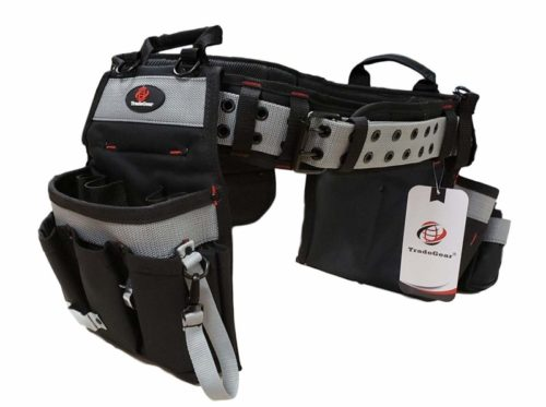 "TradeGear PART#SZA Electrician's Belt & Bag Combo - Heavy Duty Electricians Tool Belt Designed for Maximum Comfort & Durability - Ideal for All Electricians Tools - Fits Sizes S - L (26""-40"")"