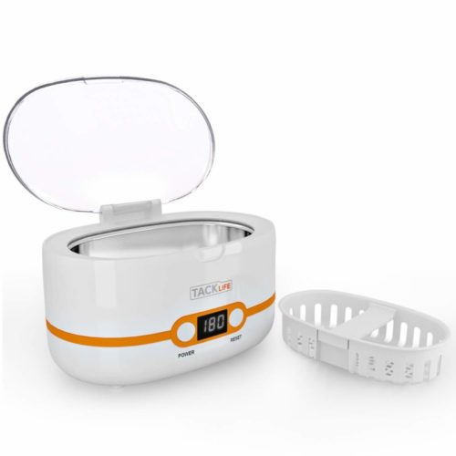 Ultrasonic Cleaner, Compact Professional Ultrasonic Jewelry Cleaner 20 Ounces(600ML) with Five Digital Timer, Watch Holder, SUS Tank for Cleaning Eyeglasses, Watches, Dentures - MUC02