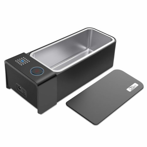 Uten Ultrasonic Cleaner - 0.75L Low Noise Wash Machine for Cleaning Eyeglasses, Jewelry, Watches, Razors, Dentures Combs (Black)