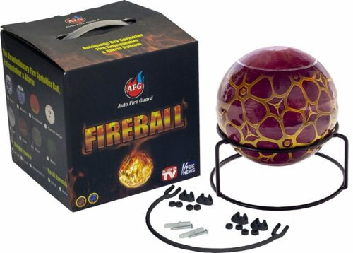 AFG Fireball Fire Extinguisher: Rose Fire Suppression Device with Mount and Sign