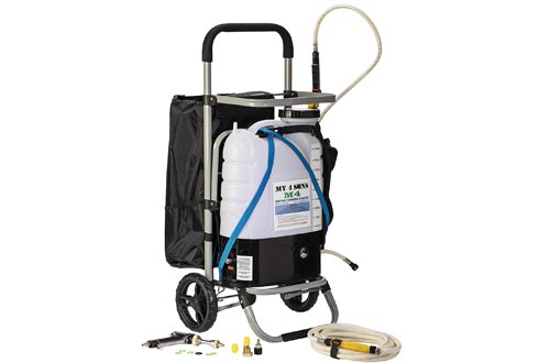My 4 Sons 4-Gallon Battery Powered Backpack Sprayer With 0-60 PSI PRESSURE DIAL