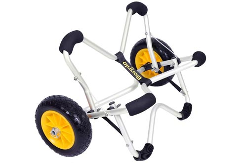 Bonnlo Cart Deep V Canoe Carrier Trolley with PU Solid Tires Wheels