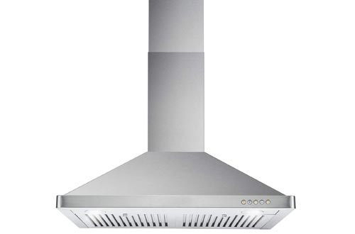 Cosmo 63175 30-in Wall-Mount Range Hood 760-CFM Ductless Convertible Duct Kitchen Chimney