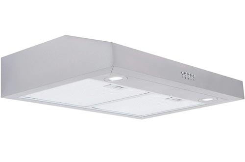 Cosmo 5U30 30-in Under-Cabinet Range Hood 250-CFM with Ducted/ Ductless Convertible Top