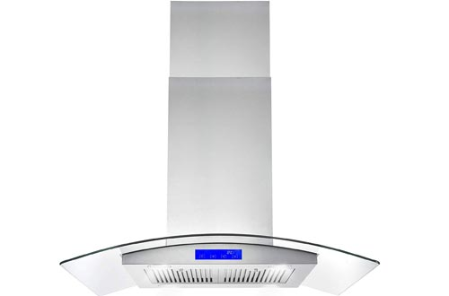 Cosmo 668ICS900 36-in Kitchen Ceiling Island Mount Range Hood