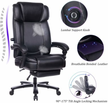 REFICCER Big and Tall Office Chairs