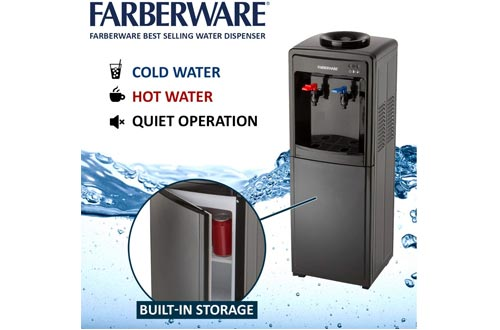Farberware FW29919 Freestanding Hot and Cold Water Cooler Dispenser