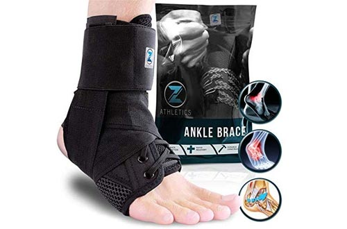 Zenith Ankle Brace, Lace Up Adjustable Support – for Running, Basketball, Injury Recovery, Sprain! Ankle Wrap